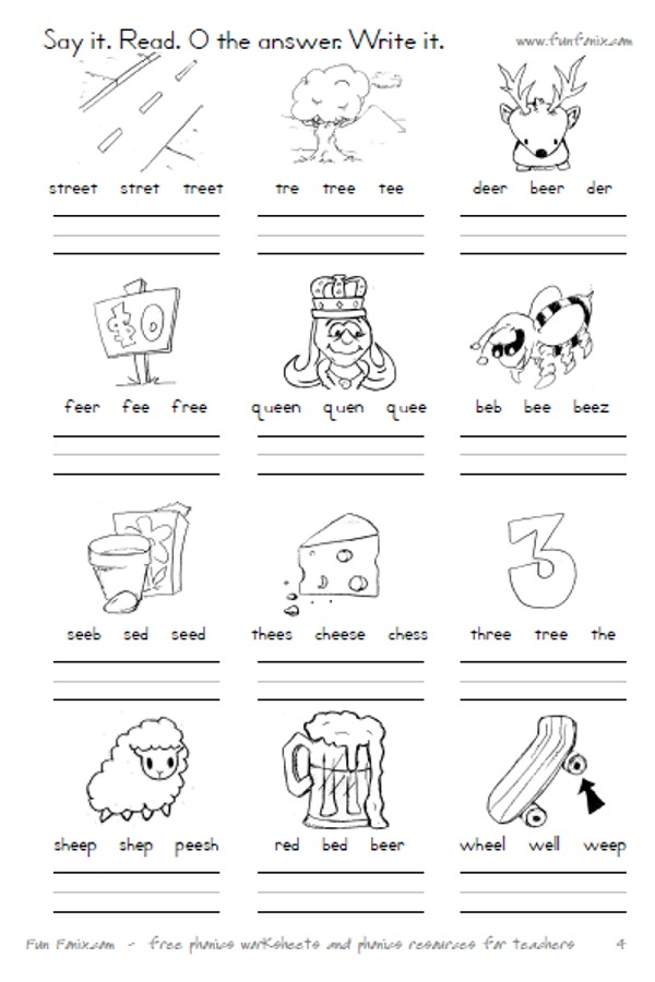 Fun Fonix Book 4 Vowel Digraph And Dipthong Worksheets