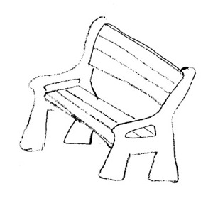benchPark Bench Clipart Black And White